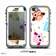 The Cartoon Emotional Owls with Polkadots Skin for the iPhone 5c nüüd LifeProof Case