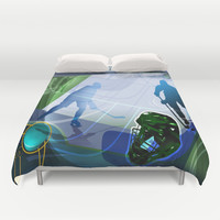Hockey Duvet Cover by Robin Curtiss