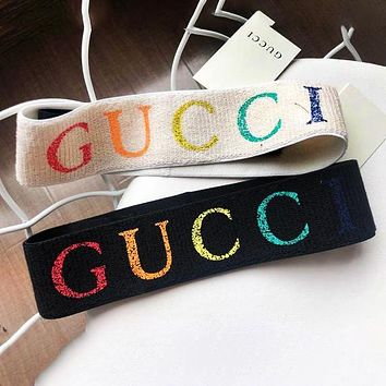 GUCCI Fashion New Colorful Letter Women Men Sports Leisure Headband