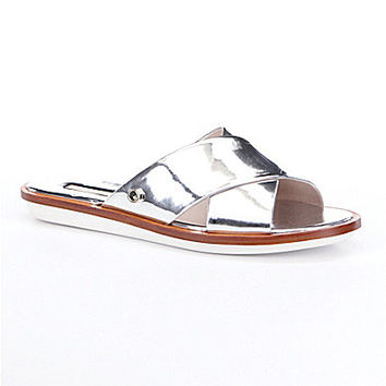 Louise Et Cie Adalla Metallic Flats - Sterling