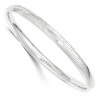 Sterling Silver Polished and Textured Bangle