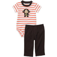 Carters Baby Boys Striped Pant Outfit