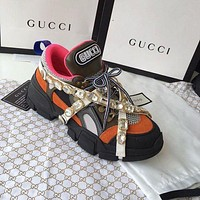 GUCCI Flashtrek Women new sneaker more crystals fashion running shoes