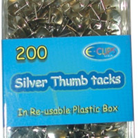 thumb tacks - assorted colors - 200 count Case of 48