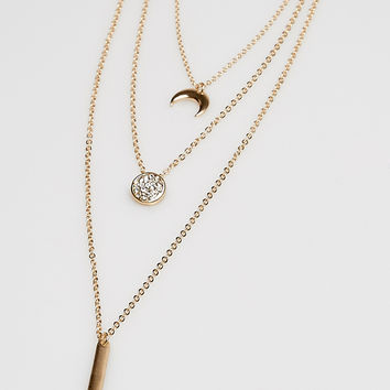 Celestial Charm Layered Necklace | Wet Seal
