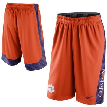 Clemson Tigers Nike 2014 Football Sideline Fly XL 2.0 Shorts - Orange - http://www.shareasale.com/m-pr.cfm?merchantID=7124&userID=1042934&productID=540340186 / Clemson Tigers