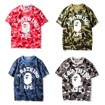 Japan Bape Camo Monkey Round Neck a bathing ape T-Shirt S-XXL
