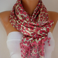 Leopard Women Shawl Scarf  Headband Necklace Cowl with by fatwoman-fd254