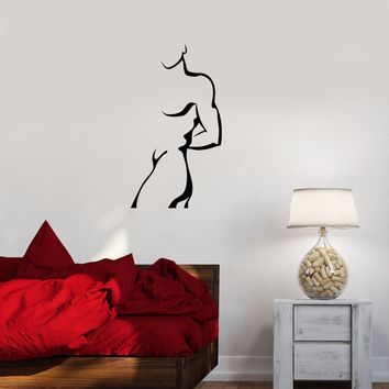 Wall Decal Silhouette Man Woman Sculpture Vinyl Sticker (ed1161)