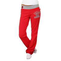 Chicago Bulls Ladies Overtime Sweatpants - Red