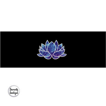 Blue Lotus Yoga Mat Mandala Ohm Meditation Mat Lotus Bohemian Design Exercise Mat
