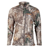 Mens Carapace 1/4-Zip High Energy Pullover, Real Tree Xtra