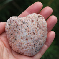 Large Rock Heart Sea Stone Heart Beach Heart Pink Beach Stone Heart