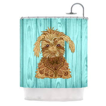 """Art Love Passion """"Gatsby the Great"""" Brown Dog Shower Curtain"""