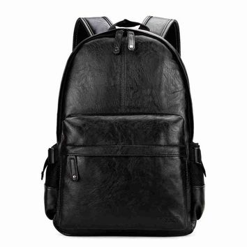 University College Backpack VICUNA POLO Preppy Style Solid  Student  Casual Men Back Pack High Quality Brand Men Leather Book Bag For SchoolAT_63_4