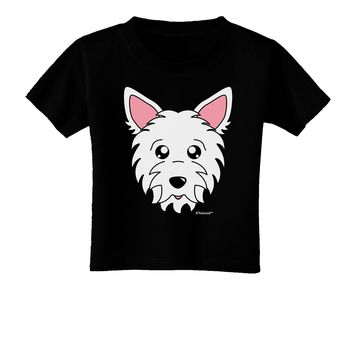 Cute West Highland White Terrier Westie Dog Toddler T-Shirt Dark by TooLoud