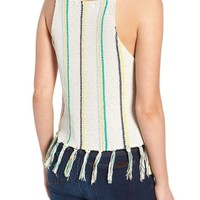 cupcakes and cashmere Cecille Stripe Sweater Tank | Nordstrom