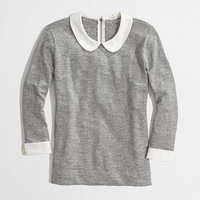 Factory Peter Pan collar tee - long sleeve - FactoryWomen's Knits & Tees - J.Crew Factory