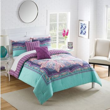 Vue Khaleesi Reversible Comforter Set (Purple)