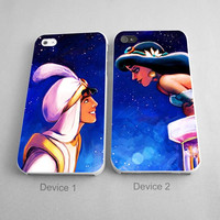 Aladin And Jasmine Princess Couples Phone Case iPhone 4/4S, 5/5S, 5C Series - Hard Plastic, Rubber Case