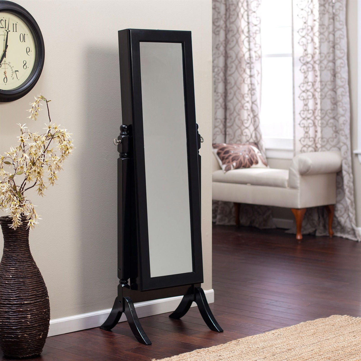 full length tilting cheval mirror jewelry from hearts attic. Black Bedroom Furniture Sets. Home Design Ideas