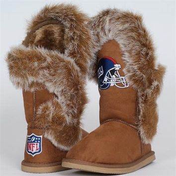 Cuce Shoes New York Giants Ladies The Fanatic Boots - Tan