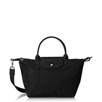 Longchamp Women's Le Pliage N??o Sac Port?? Main Top Handle Black | Best Deal Online