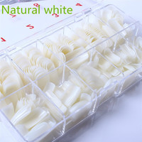 500pcs  Full Cover Natural False Nails Fake Nail Tips with Box