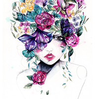 Holly Sharpe Illustration — Flower Fro II // Limited Edition giclée print