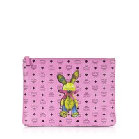 MCM Rabbit Pink Medium Pouch