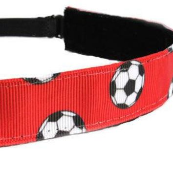 Red Soccer Headband