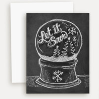 Let It Snow Globe - A2 Note Card