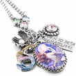 Personalized Mermaid Charm Necklace
