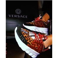 Versace Leisure heavy-soled lace sneakers 5 colors