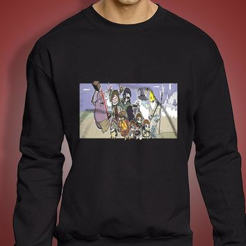 The Lord Of The Rings Adventure Time Men'S Sweatshirt