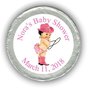 Cowgirl Baby Shower Chocolate Coins