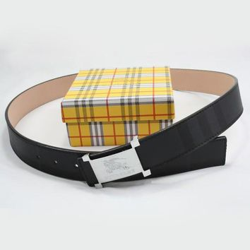 BURBERRY Men Woman Fashion Smooth Buckle Belt Leather Belt-5
