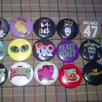 Joey Badass Pro Era Flatbush Zombies Buttons set of 18