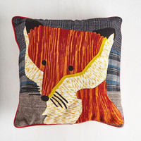 Woodland Creature Wily I Oughta Pillow by Karma Living from ModCloth