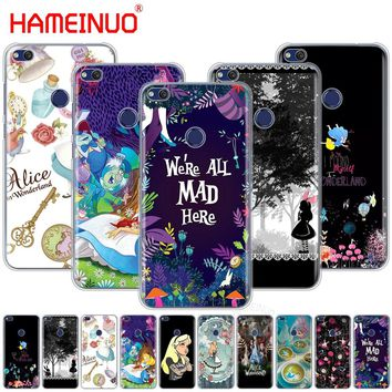 HAMEINUO Alice in Wonderland Cover phone Case for huawei Ascend P7 P8 P9 P10 P20 lite plus pro G9 G8 G7 2017