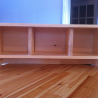 Unfinished Pine Wall Mount Shelf with Cubbies