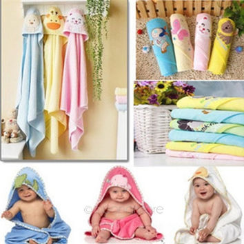Baby Soft Cotton Hooded Warm Kids Washcloths Bath Towel Infant Wrap = 1930180164