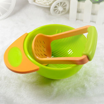 1 Set Mash and Serve Bowl for Making Homemade Baby Food, Garden Fresh Steam Mash Baby Food Prep Bowl and Food Masher
