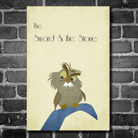 Disney Art The Sword and The Stone Poster movie poster disney poster 11x17