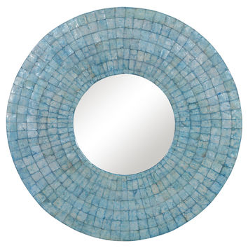 Mirrors, Calvin Wall Mirror, Turquoise, Wall Mirrors