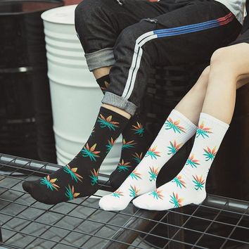 Psychedelic Trippy Shrooms and Weed Cotton Socks