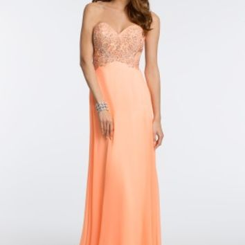 Strapless Beaded Dress