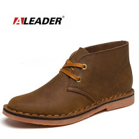 Classic Tooling Leather Men Boots - Casual Ankle Boots
