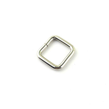 "10pcs 3/4""(20mm) Non Welded Rectangle Dee Rings Nickel Plated D-Ring Webbing (Thickness 4mm)"