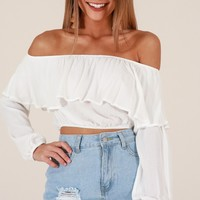 High Maintenance top in white Produced By SHOWPO